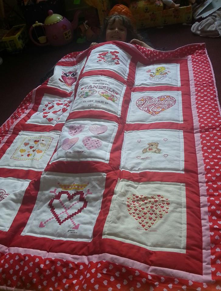 Photo of Tanesha's quilt