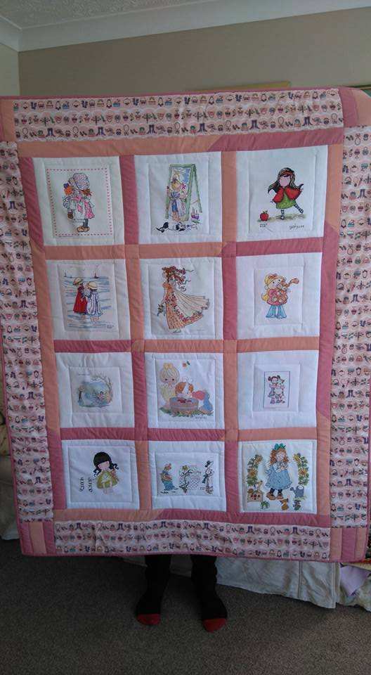 Photo of (QUILTED) Pictures of Girls's quilt