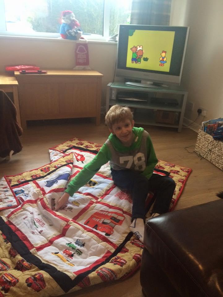 Photo of Samuel A's quilt
