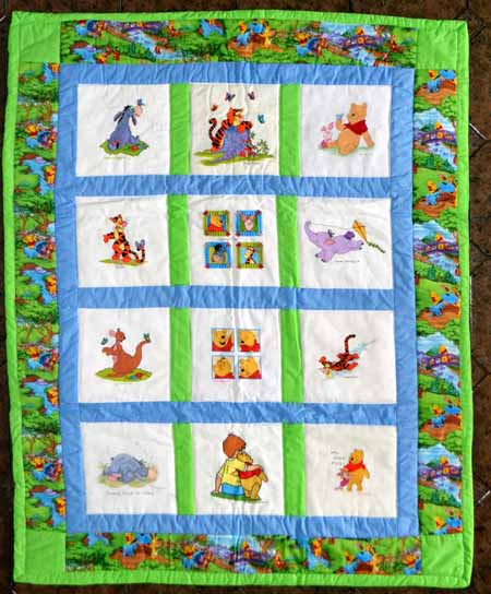 Photo of Pooh's quilt