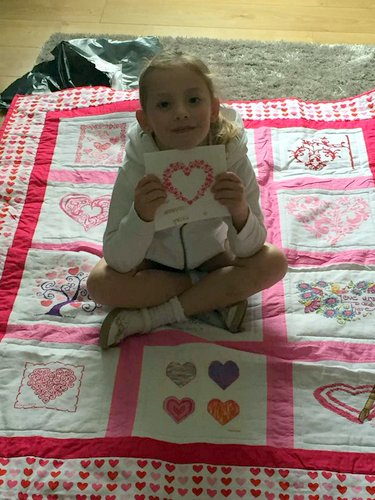 Photo of Alivia's quilt