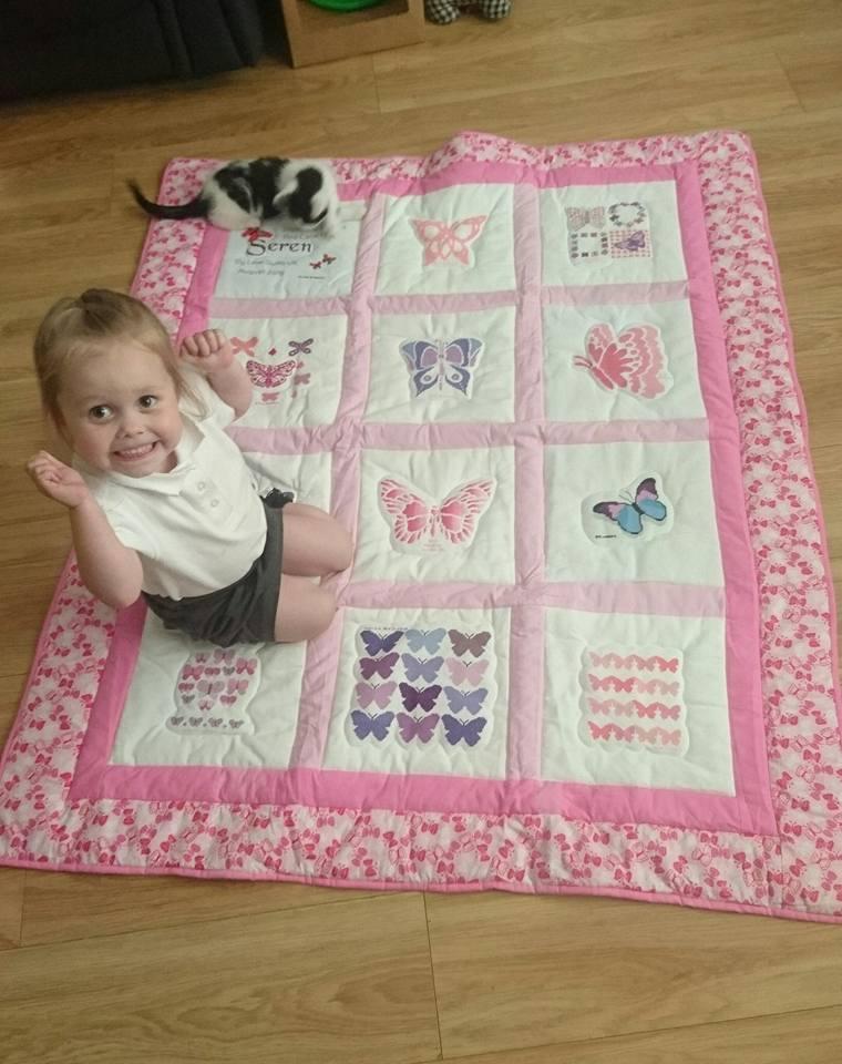 Photo of Seren's quilt