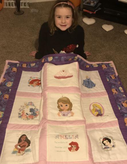 Photo of Amelia's quilt