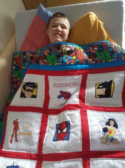 Photo of Alexander's quilt