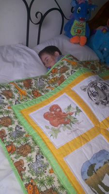 Photo of Gabriel's quilt