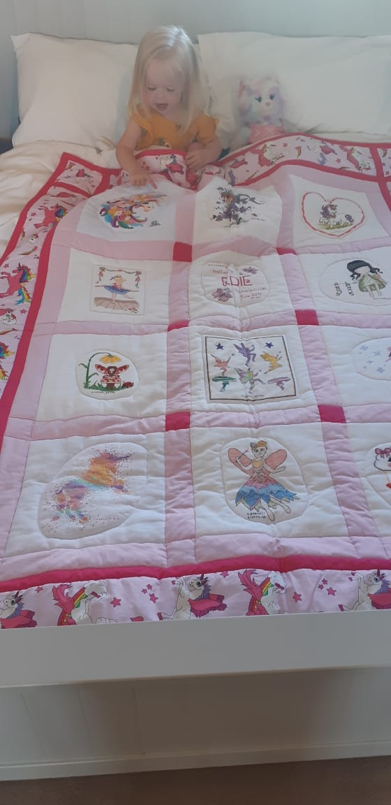 Photo of Edie's quilt