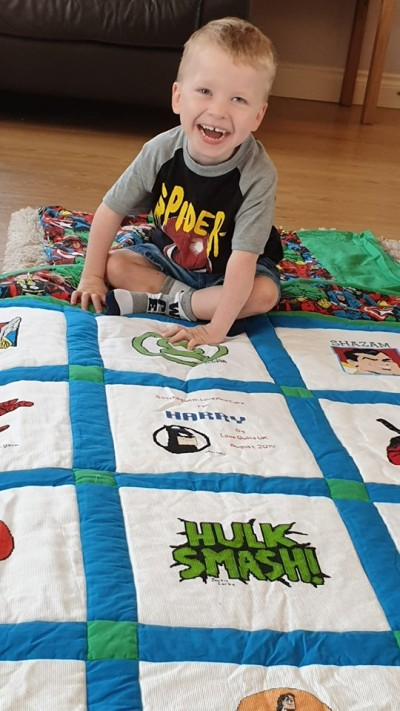 Photo of Harry's quilt
