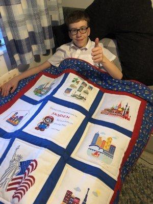 Photo of Jayden T's quilt