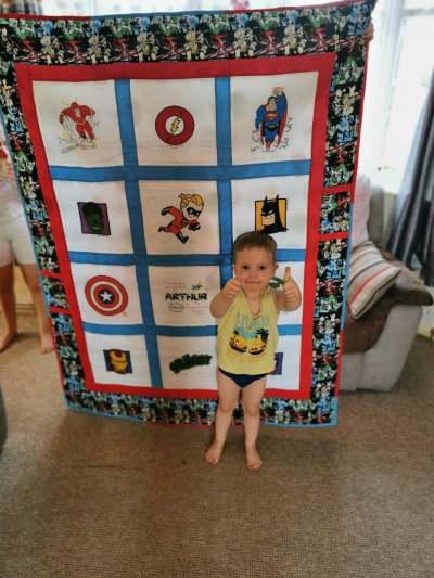 Photo of Arthur's quilt