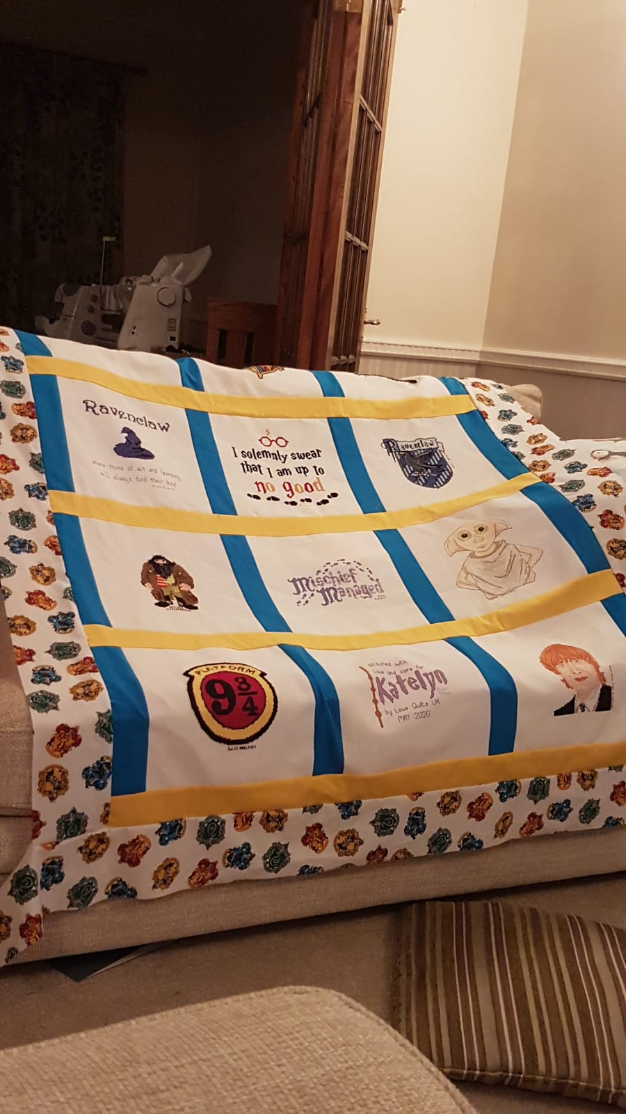 Photo of Katelyn's quilt