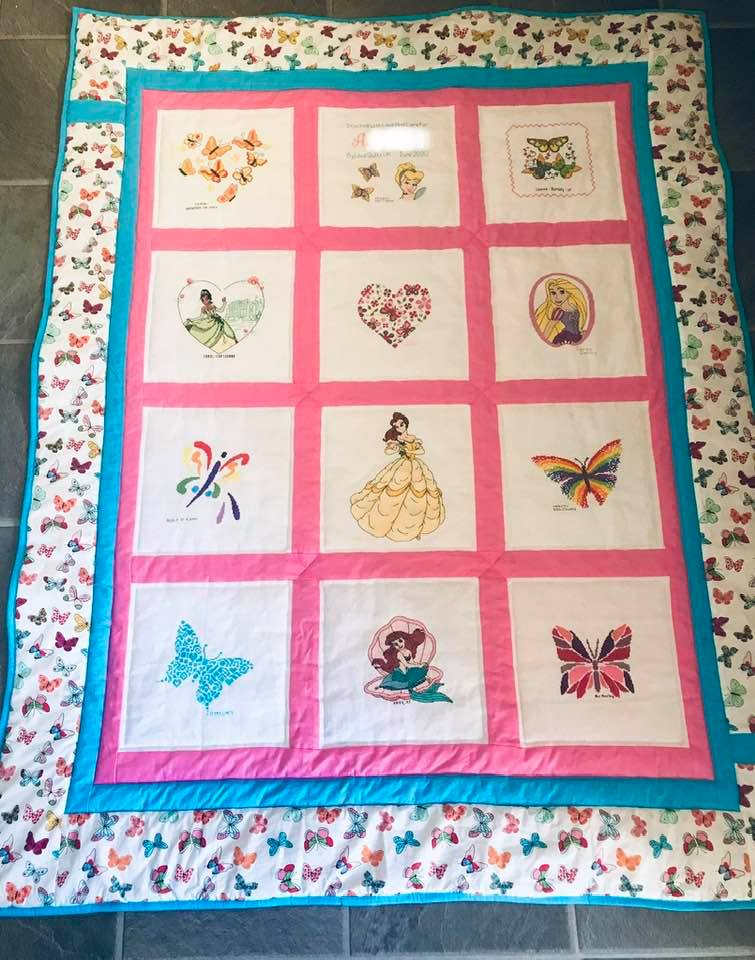 Photo of A's quilt