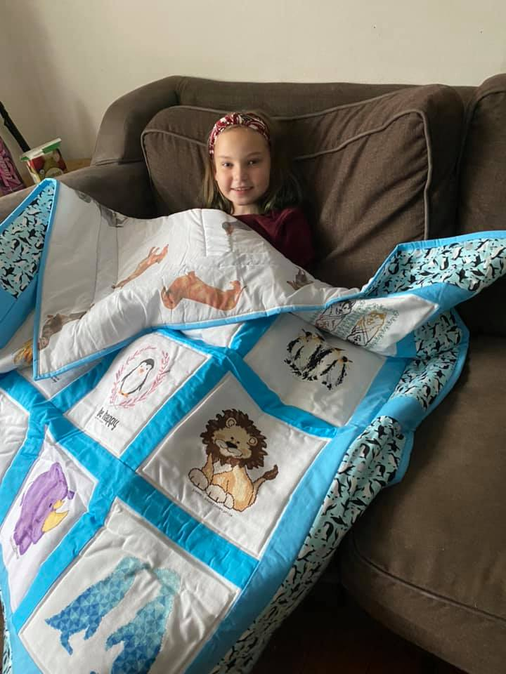 Photo of Olivia's quilt