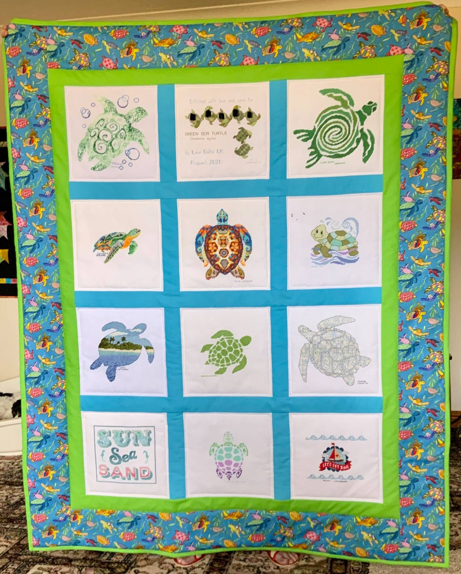 Photo of G's quilt