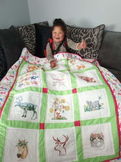 Photo of Taniesha's quilt