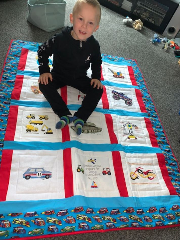 Photo of Joshua D's quilt