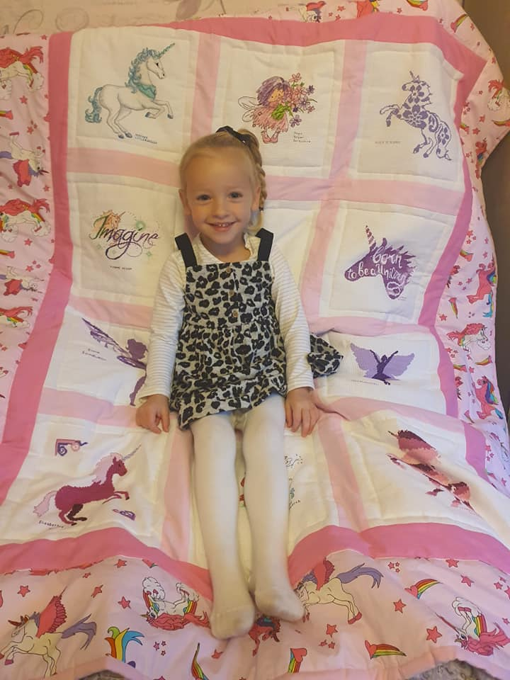 Photo of Layla's quilt