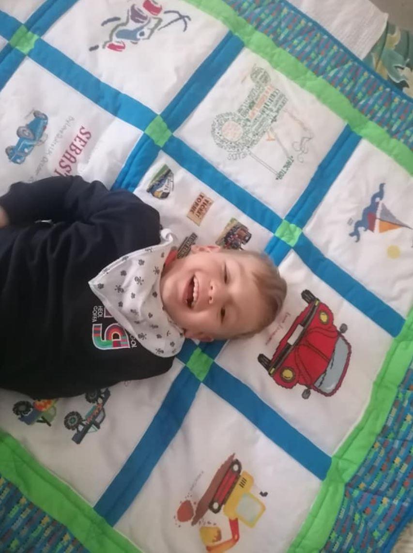 Photo of Sebastian's quilt