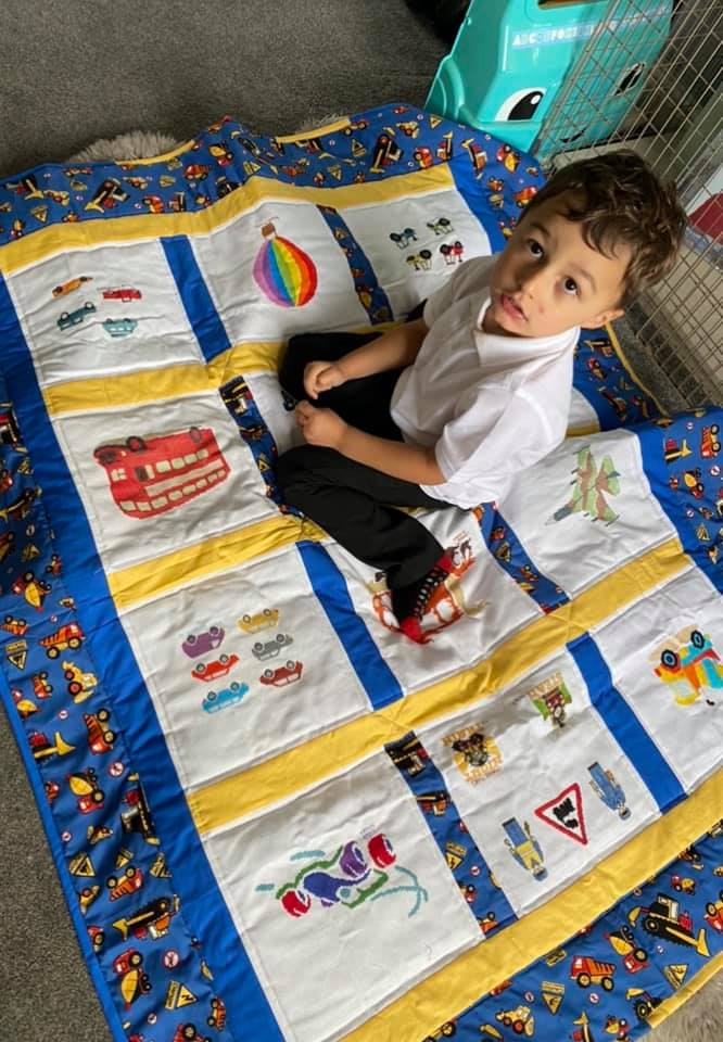 Photo of AJ's quilt