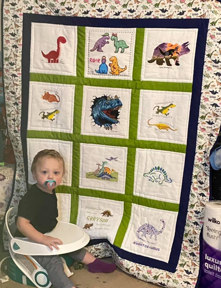 Photo of Grayson's quilt