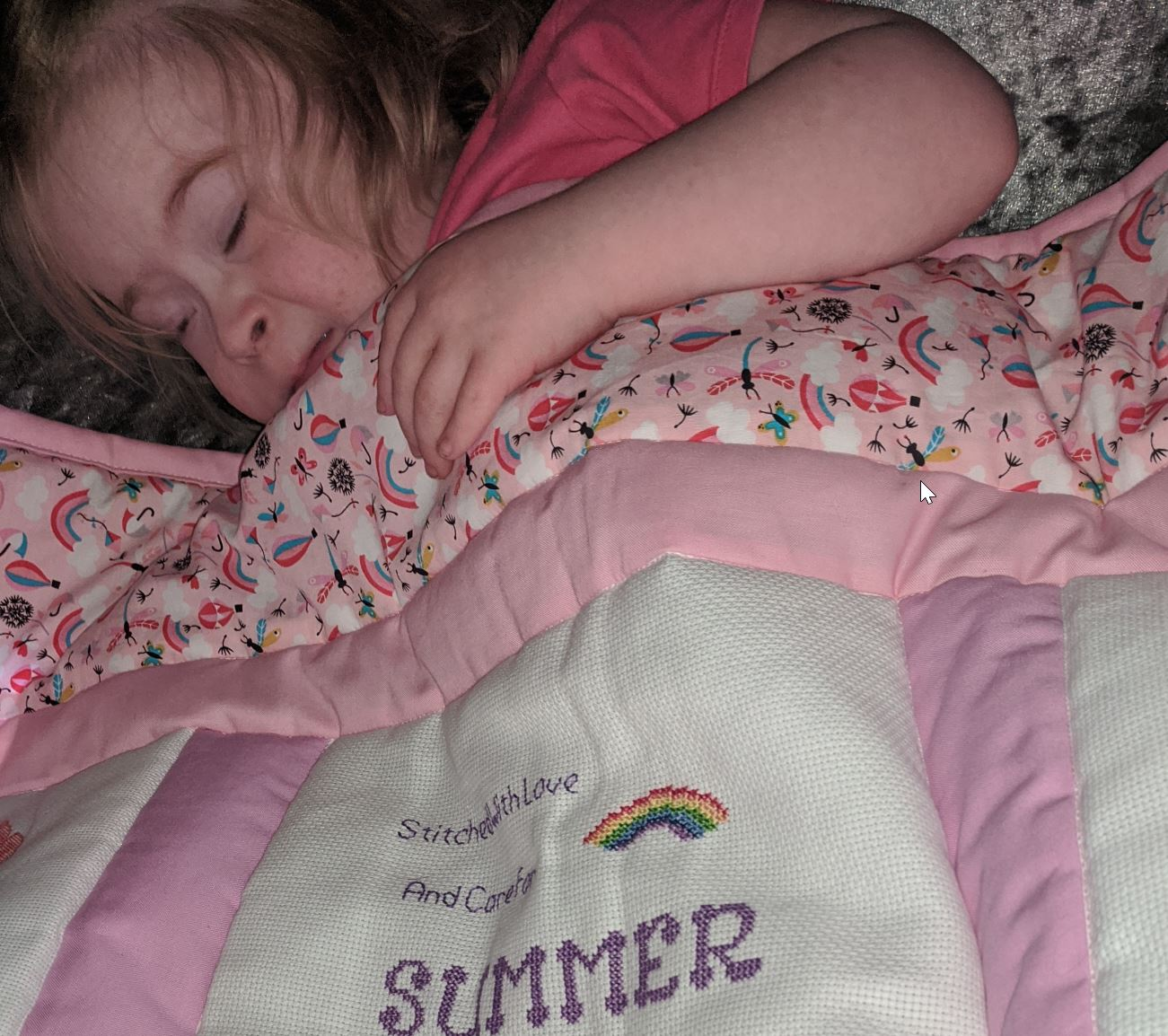 Photo of Summer's quilt