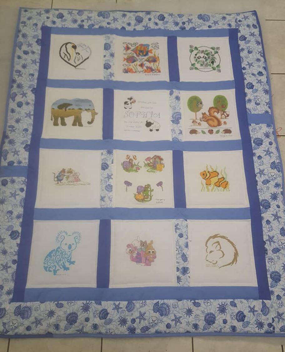 Photo of Sophia's quilt