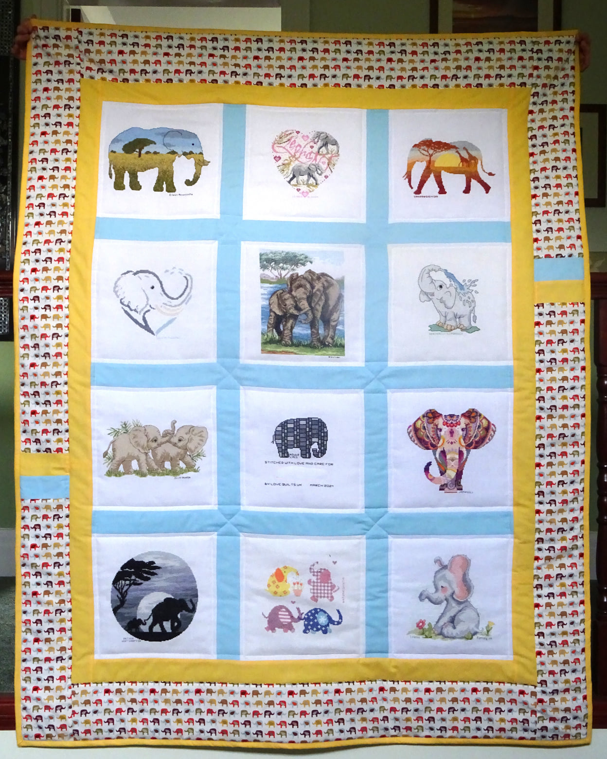 Photo of R's quilt
