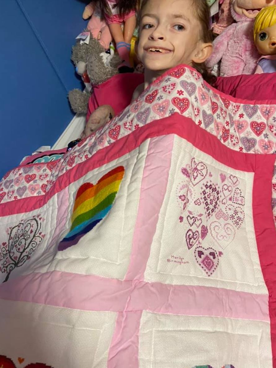 Photo of Hope's quilt