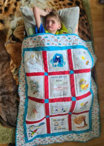 Photo of Caden's quilt