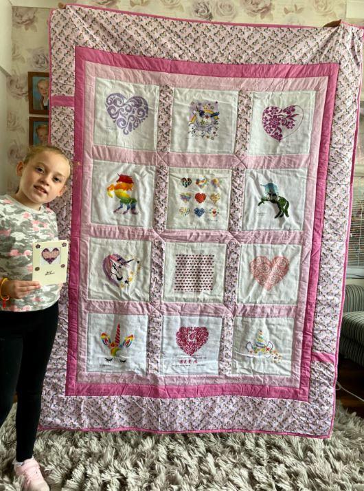 Photo of Ella Y's quilt