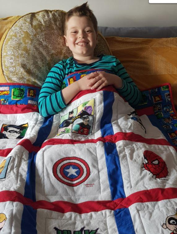 Photo of Mason's quilt