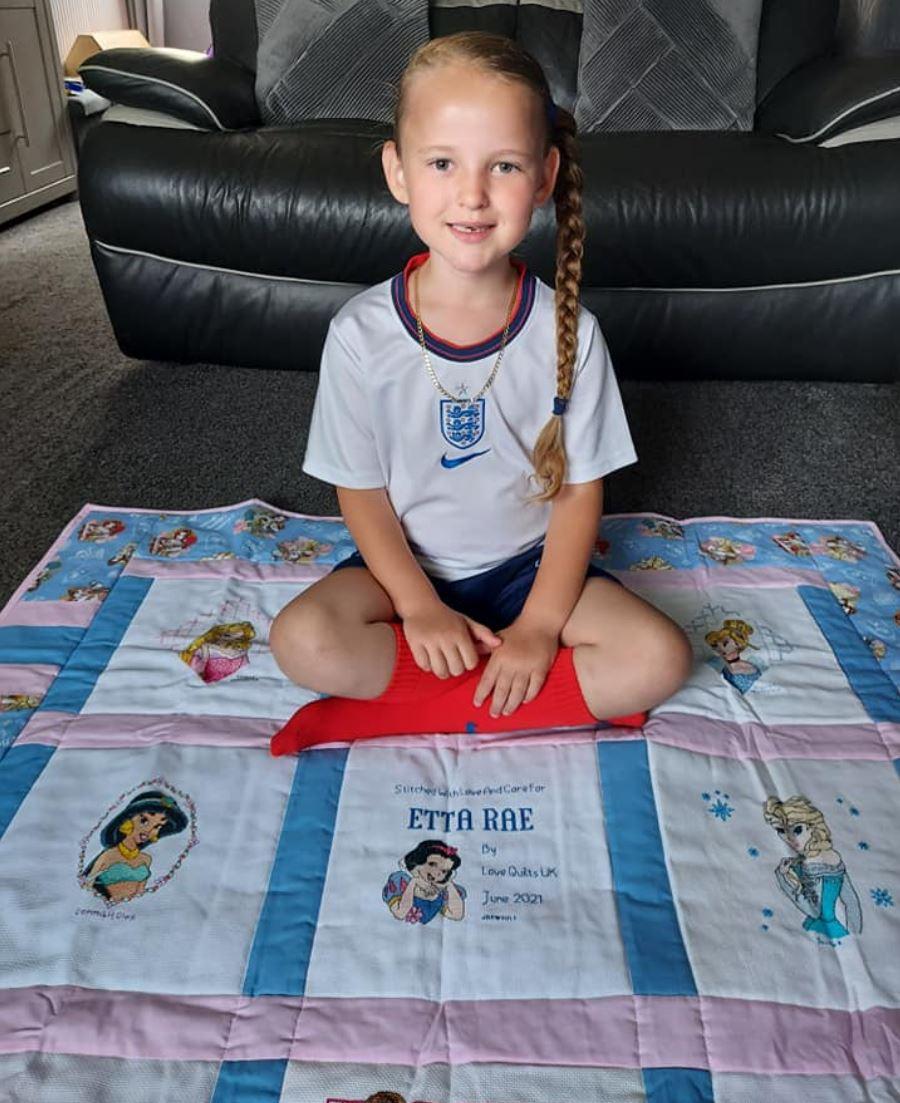 Photo of Etta Rae's quilt