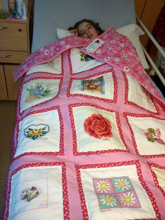 Photo of Alana's quilt