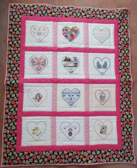 Photo of Emergency Quilt: Heart's quilt
