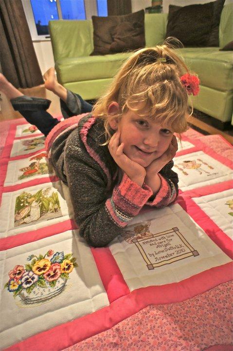 Photo of Abigail''s quilt