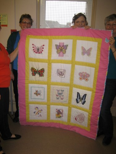 Photo of Emergency Quilt: Butterflies's quilt