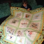 Spring R's quilt