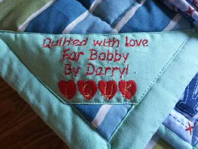 Photo of Bobby Bs quilt