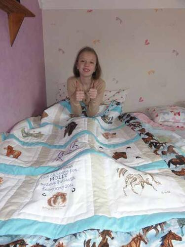 Photo of Molly As quilt