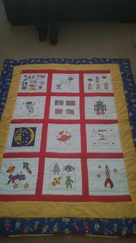 Photo of Alfie Rs quilt