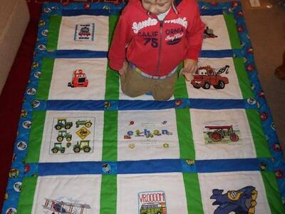Photo of Ethan Cs quilt
