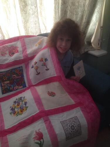 Photo of Isabel Rose Cs quilt