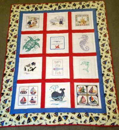 Photo of Harry Rs quilt