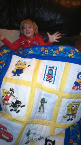 Photo of Riley Js quilt