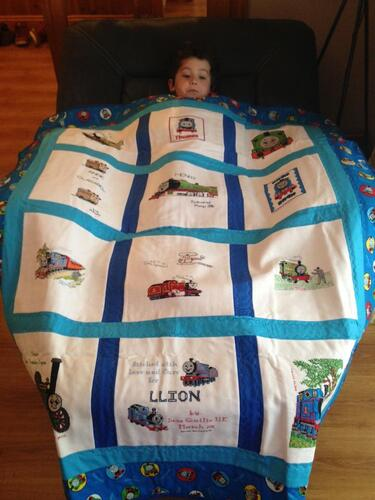 Photo of Llion Bs quilt