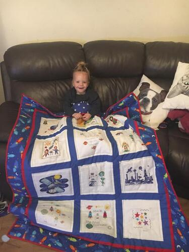 Photo of Taylors quilt