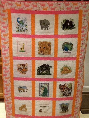 Photo of Courtney Es quilt