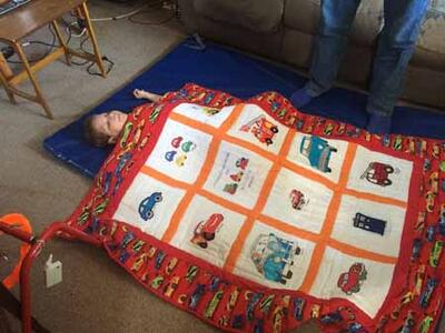 Photo of Sam Hs quilt