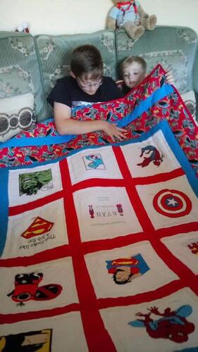 Photo of Ryan Js quilt