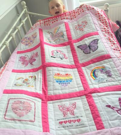 Photo of Libby Os quilt