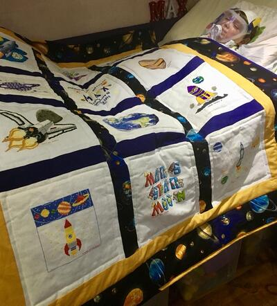 Photo of Max Cs quilt